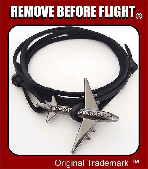 remove before flight brazalete